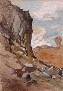 "Albert Charles Dodds ""Rock Cliff and Waterfall"""
