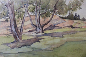 "Albert Charles Dodds ""Trees by the hill"""