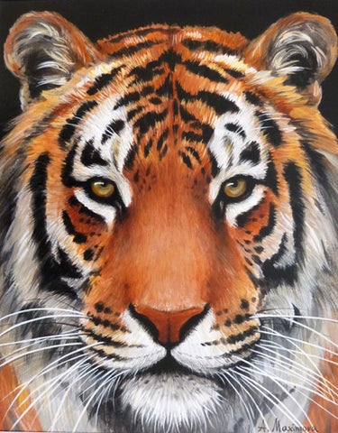 "Angela Maximova ""Tiger Tiger burning bright"""
