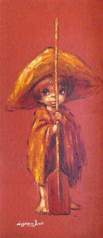 "Barry Leighton Jones ""Urchin child with Paddle"""