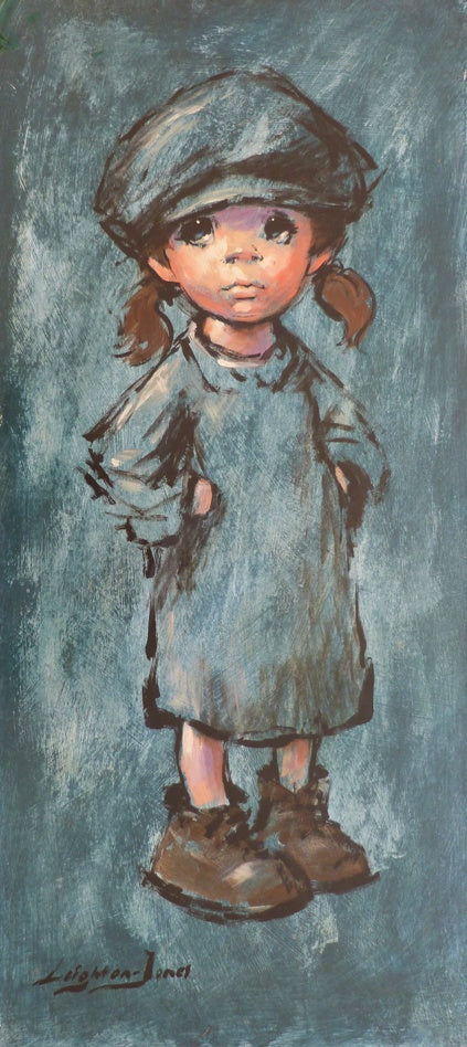 "Barry Leighton Jones ""Urchin Girl in Blue"""