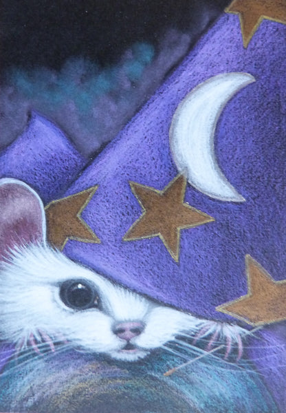 "Minature - Cyra R Cancel ""White Mouse, Halloween"""