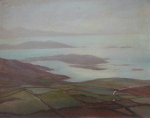 "Deirdre O'Donnell ""Coastal scene with view of islands"""