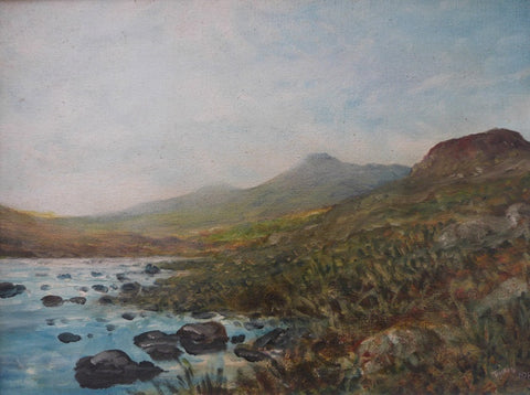 "Edward Tomkus ""Irish River and Mountain Scene"""