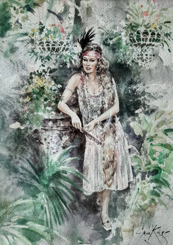 "Gordon King ""Woman in the Garden"""
