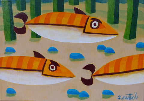 "Graham Knuttel ""Fish School"""