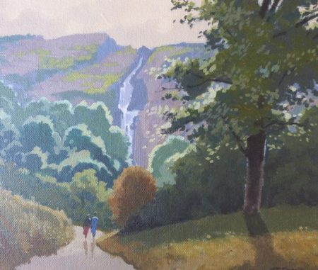 "John Francis Skelton ""Earth, Air, Fire and Water, Powerscourt Waterfall, Wicklow"""