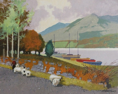 "John Francis Skelton ""Roadside Herd, Carlingford Lough, County Louth"""