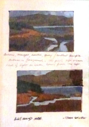 "John Skelton ""Two sketches of Achill Island, Mayo"""