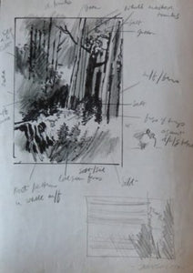"John Skelton ""In the Forest"" and hand written notes"