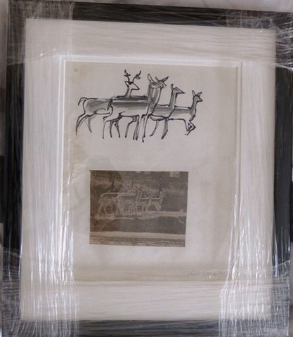 "John Skelton ""Deer, Phoenix Park, Dublin"" (with a newspaper photo)"