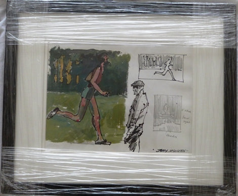"John Skelton ""Jogger and figure study"""