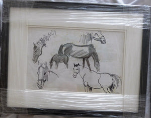 "John Skelton ""Sketch study of horses"""