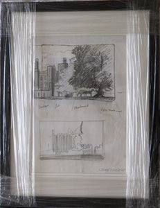 "John Skelton ""Two Sketch Studies of Castle Grounds and Horses"""