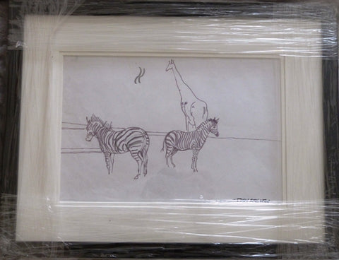 "John Skelton ""Zebras and Giraffe, Dublin Zoo"""