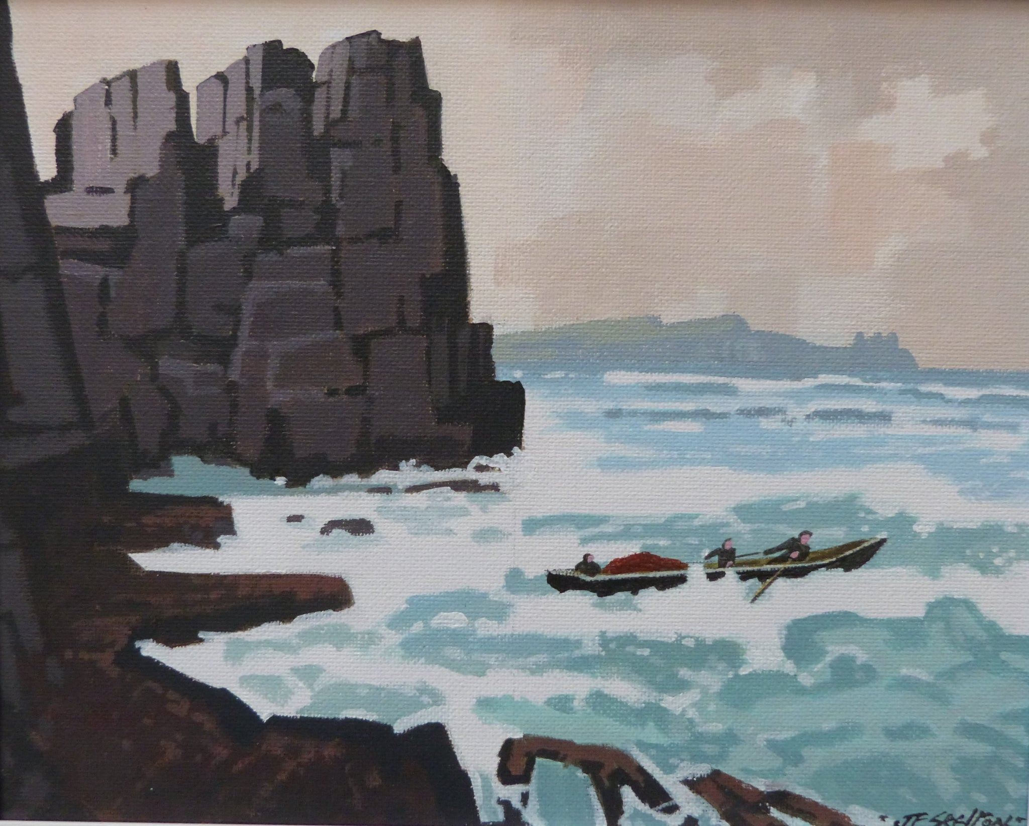 "John Francis Skelton  ""About Turn"". Blasket Islands. Kerry."