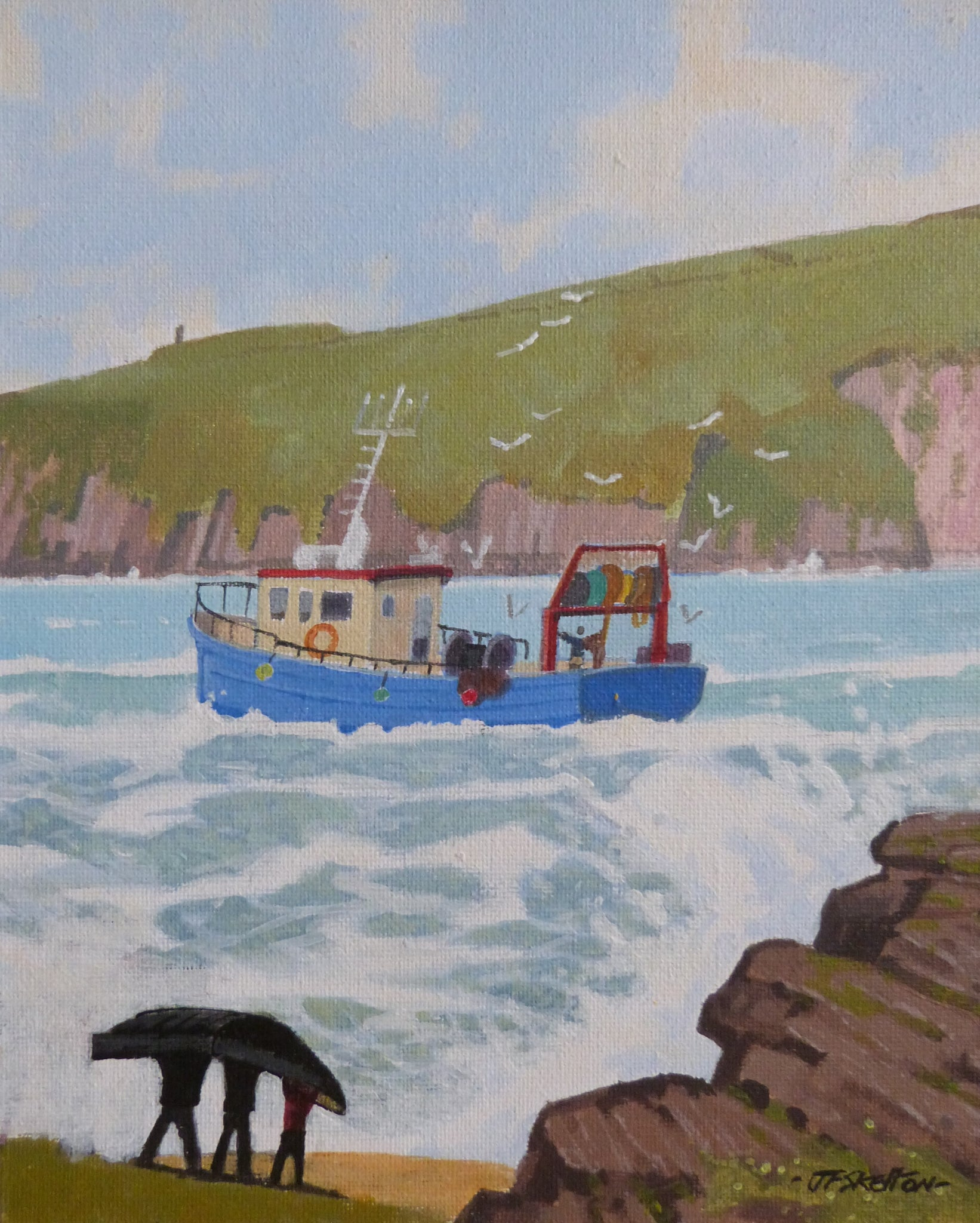 "John Francis Skelton """"Back to Work"", Dingle Head, Kerry"