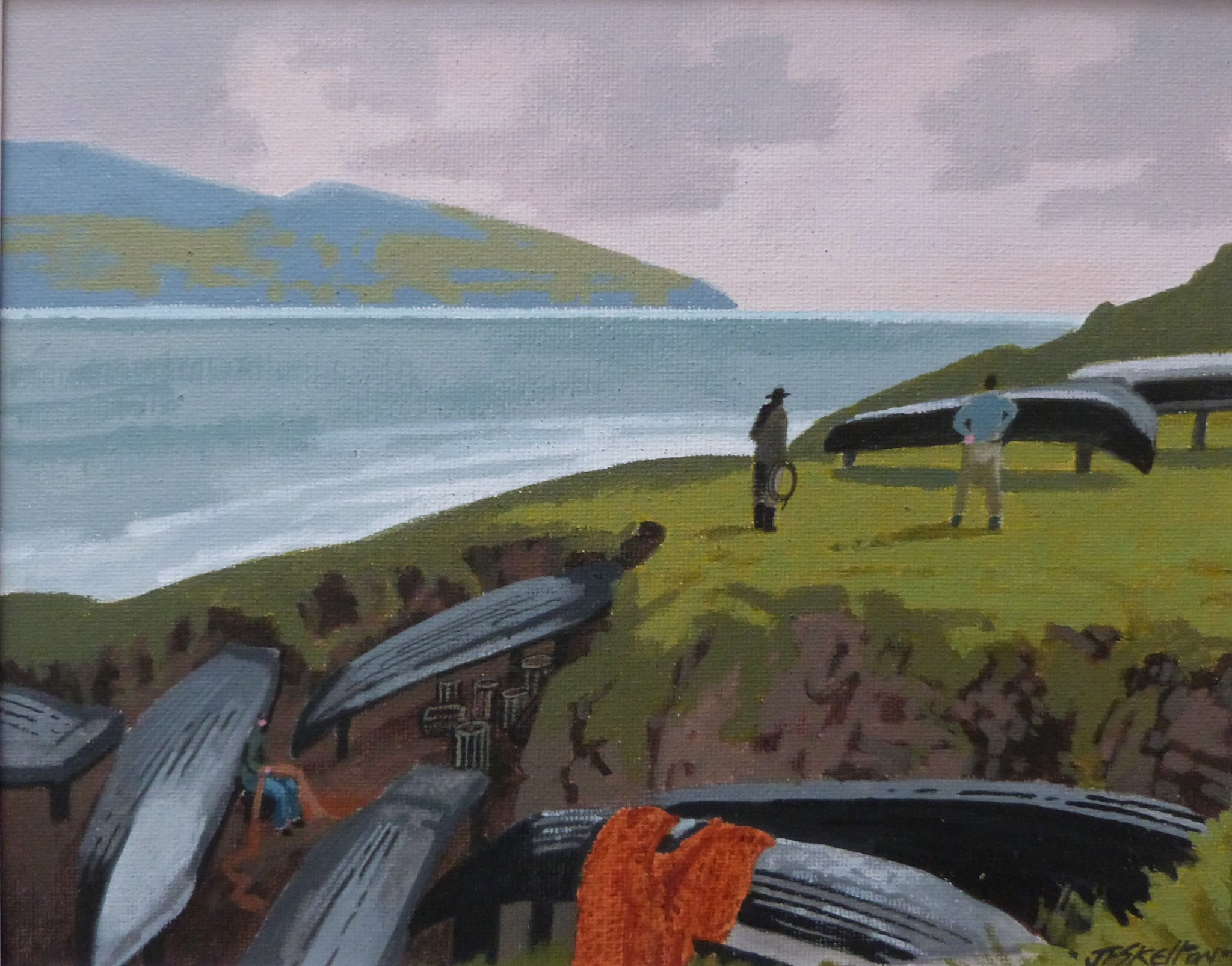"John Francis Skelton ""Underground Currach Park"". The Blaskets. Co. Kerry."