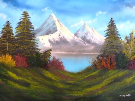"Kelly Hood ""Alpine Mountain Scene"""