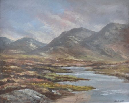 "Leslie Allen ""Connemara Mountain and Lake Scene"""