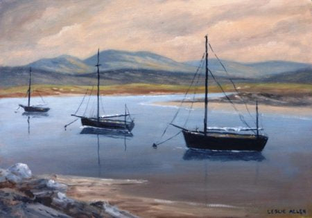 "Leslie Allen ""Fishing Boats, West of Ireland"""