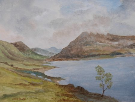 "Leslie Allen ""Lake and Mountain Scene, Ireland"""