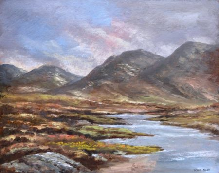 "Leslie Allen ""Mountain and Lake Scene, Ireland"""