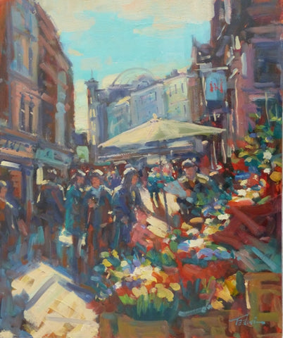 "Norman Teeling ""By the Flower Sellers on Grafton Street, Dublin"" Ref.3.5"