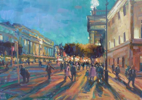 "Norman Teeling ""Evening Time, O'Connell Street, Dublin"" Ref.3.4"