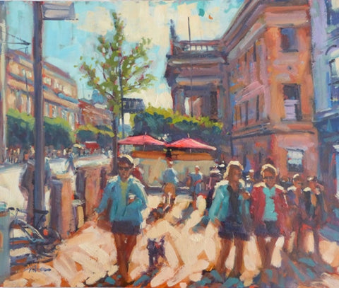 "Norman Teeling ""GPO and O'Connell Street, Dublin in the sunshine"""
