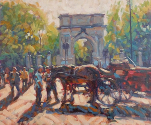 "Norman Teeling ""Horse Carriage Tour, Stephens Green, Dublin"""