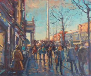 "Norman Teeling ""O'Connell Street Dublin and The Spire, Evening Time"""