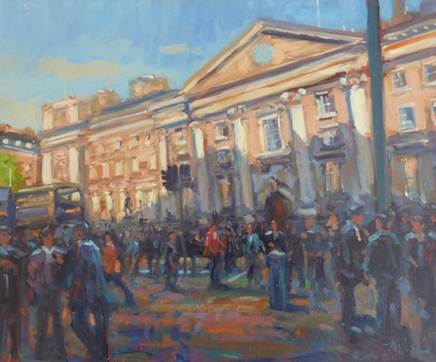 "Norman Teeling ""Outside Trinity College Dublin"""