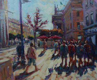 "Norman Teeling ""Sunshine Day, O'Connell Street, Dublin"""