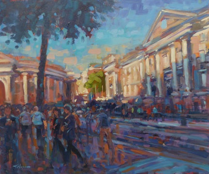 "Norman Teeling ""Trinity College Dublin on a summers evening"""