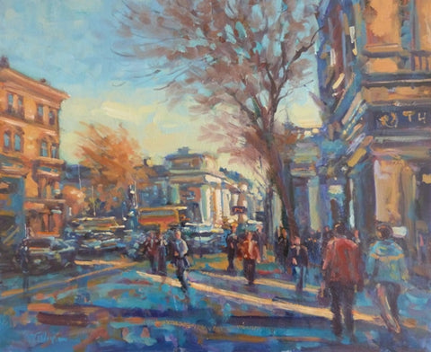"Norman Teeling ""Westmoreland Street and Trinity College Dublin in background"""