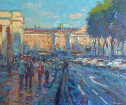 "Norman Teeling ""Late Afternoon on Dame Street Dublin"""