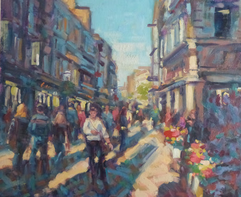 "Norman Teeling ""A Sunny Afternoon on Grafton Street Dublin"""