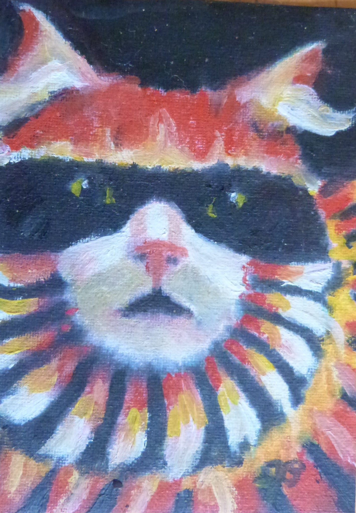 "Minature - Virginia Martin Bradberry ""Masked Cat"""