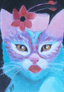 "Minature - Virginia Martin Bradberry ""Cat Pretty"""