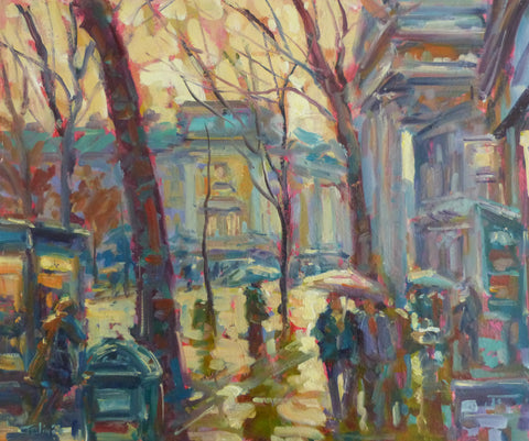 "Norman Teeling ""Rainy Day in Dublin City"". Ref. 3.3"