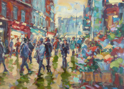 "Norman Teeling ""Sunny Skies on Grafton Street, Dublin"""
