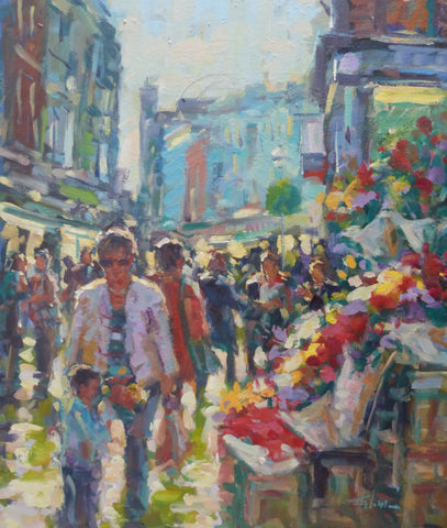 "Norman Teeling ""Flowers on Grafton Street"". Ref. 3.4"