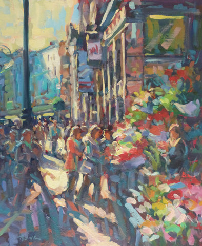 "Norman Teeling ""Grafton Street Flower Sellers"". Ref. 3.5"