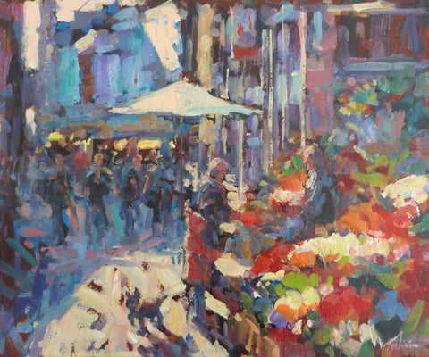 "Norman Teeling ""Sunshine and Flowers, Grafton Street Dublin"". Ref. 3.6"