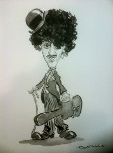 "Ray Sherlock ""Phil Lynott as Charlie Chaplin II"""