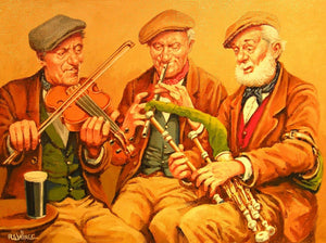 "Roy Wallace ""Three Musicians in a Pub"""