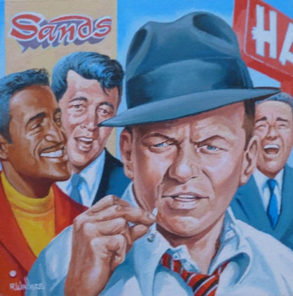 "Roy Wallace ""Frank Sinatra, Sammy Davis Junior, Dean Martin and Peter Lawford"" (2008)"