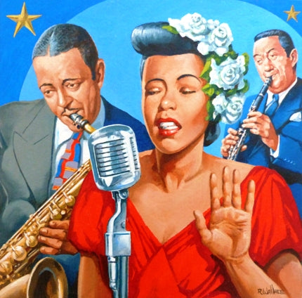"Roy Wallace ""Lester Willis Young (on saxaphone) with Billie Holiday"