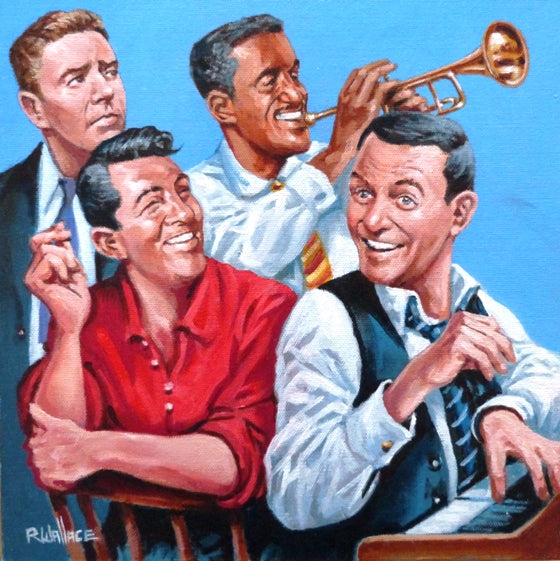 "Roy Wallace ""Peter Lawford, Sammy Davis Junior, Dean Martin and Frank Sinatra. Circa 1960"" (2007)"